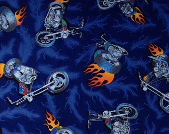 Travel Pillow Case in a Flaming Choppers Print