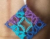 Diamond Pendant- Caribbean & Turquoise