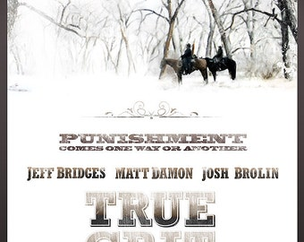 "TRUE GRIT (2010, Jeff Bridges) Poster 24""x36"" - Free Shipping in United States"