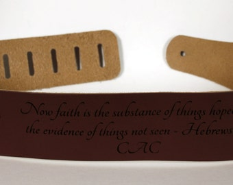 Custom Engraved Leather Guitar straps, custom guitar straps, guitar straps, personalized guitar straps, Brown Leather