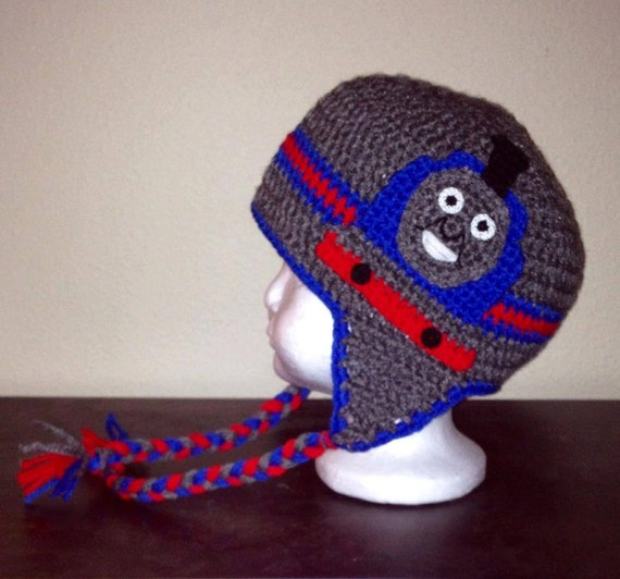 Free Crochet Hat Pattern For Thomas The Train : Items similar to Thomas The Train Crochet Hat on Etsy