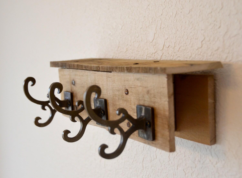 Wood Pallet Key Rack Reclaimed Wood Coat Rack Upcycled Key