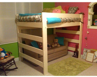 The Premier Solid Wood Loft Bed 1000 Lbs Wt. Capacity Twin Size With Youth  Safety
