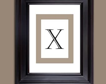 Monogram Prints - Letter Prints - Download only - Letter X  10 x 8 and 11 x 14