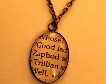 "The Hitchhiker's Guide to the Galaxy ""Zaphod"" Pendant"