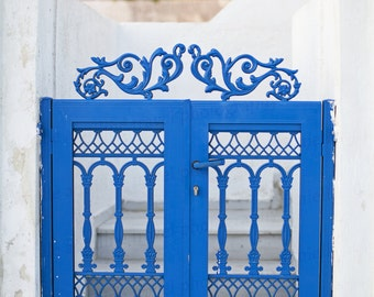 Oia Santorini Greece, Santorini Blue Gate, Santorini Greece Architecture, Greece Travel Photography, 8x10 Photo, Art Decor