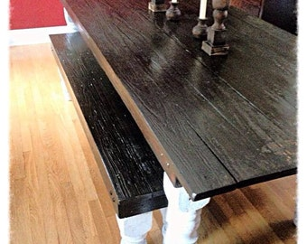 Farm table with bench seats