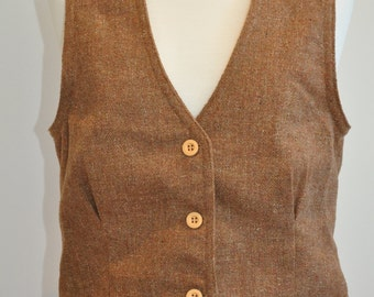 great button up 70's vest