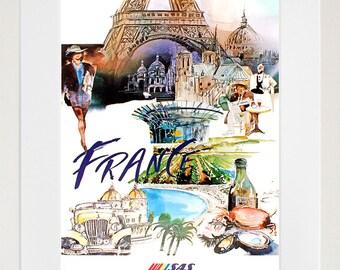 France Poster Art Travel Print (TR36)
