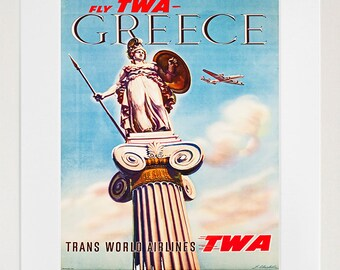 Art Greece Travel Poster Greek Print Vintage (ZT249)