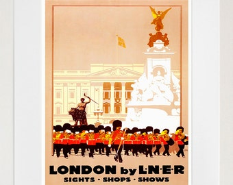 London Art Retro Poster Art Travel Poster Wall Art Print (ZT508)