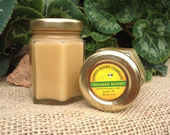 3 oz. Creamed Honey in a glass hex jar