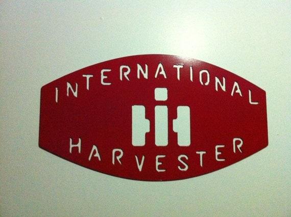 International harvester metal wall sign metal international for International harvester wall decor