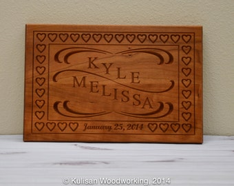Special Event Name and Date Plaque