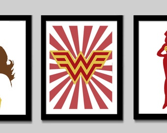 Wonder Woman Print Set