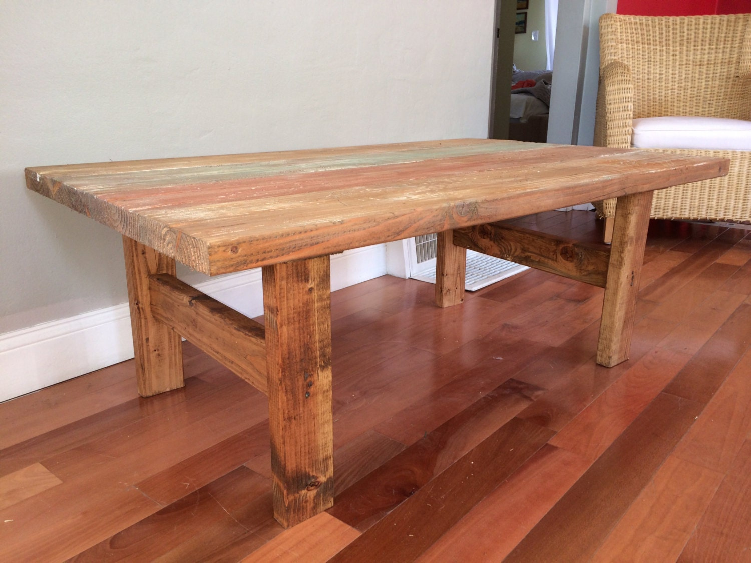 Handmade Wood Coffee Table By Eclectichomeliving On Etsy