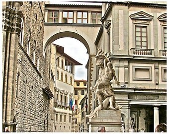 Florence Italy Photography, 8x10 print Palazzo Vecchio, Italy, Fine Art Print, Italian architecture