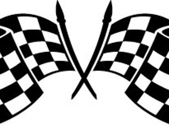 Checkered Flag Decal - Multiple Colors Available
