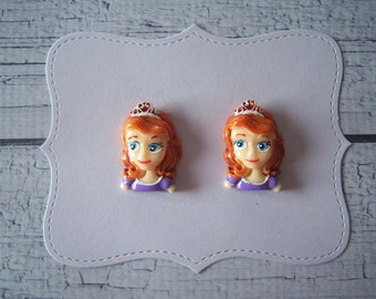 2 pieces: Sofia the First Resin Flatback