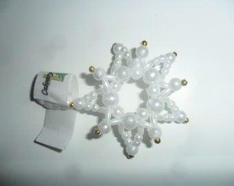 Beaded Snowflake Ornament