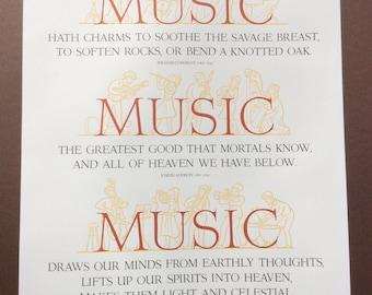Vintage Letterpress Music Poster