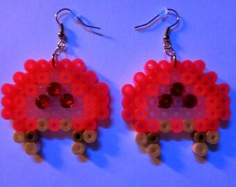Blacklight Pink Metroid earrings