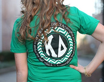 Kappa Delta Chevron American Apparel Tshirt