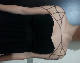 Necklace, Shoulder Chain, copper shoulder chain,schulterkette