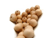 Tan Wooden Bead - Wood Beads - Beige Bead - 16 in. Strand - 12 mm - Wooden Bead - Round Wood Bead