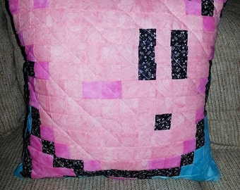 Kirby Pixelated Pillow