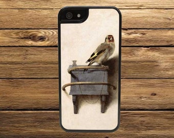 Cell Phone Case, The Goldfinch by Carel Fabritius - iPhone 6/6s, 6/6s Plus, 5/5s, 5C, 4/4s - iPod 6, 5, 4 - Samsung Galaxy S6 S5 S4 S3
