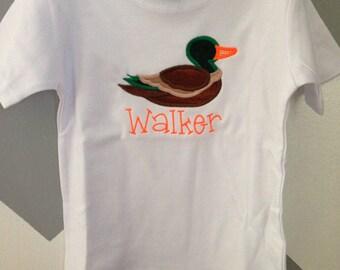 Toddler Mallard Duck Applique Shirt