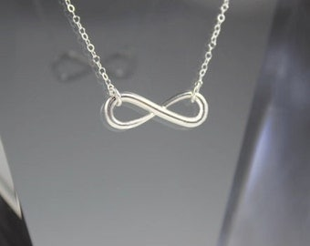 Infinity Link Necklace, Sterling Silver, Reese Witherspoon, Eternity Necklace, Bridal Necklace, Anniversary Gift, Bridesmaids