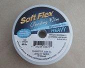 100' Soft Flex clear steel beading heavy jewelry wire 49 strand .024 inch