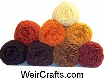 One Ply Wool/Mohair Yarn in Doll Hair Colors -  4 oz. (113 gram) skein