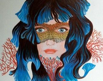 """Portrait woman """"The aquarium"""""""