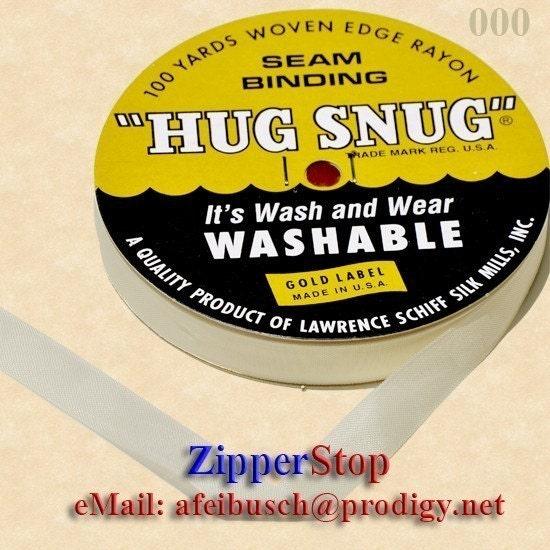 Chalk WHITE-000 Hug Snug Seam Binding 100-yds Roll 1/2