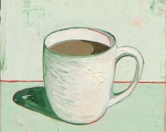 Green Coffee Cup - Giclee Print