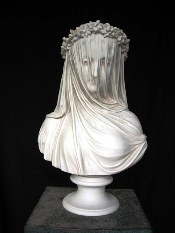The Veiled Lady A Marble Bust Of The By Primadimorasculpture