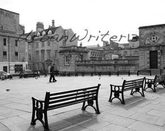 Square in Bath England photograph