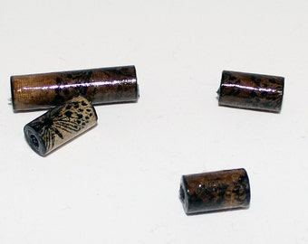 Hand Cut, Stamped and Pressed Paper Bead Tubes