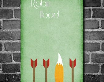 Robin Hood movie poster Disney minimalist poster geekery art nursery print