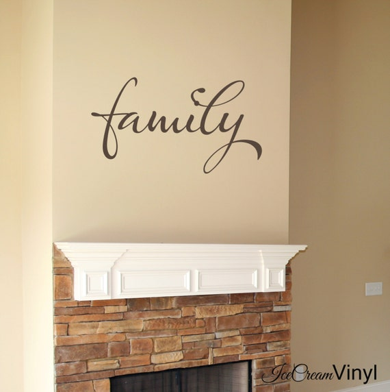 Family Wall Decal Home Decor Wall Art Kitchen Bedroom Family Room Living Room