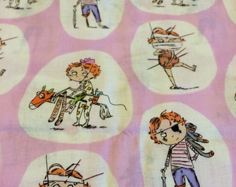 Crafty Chloe Dress Up Fabric in pink Fq Destash