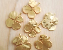 Real Gold Dipped Four Leaf Clover Necklace Genuine Leaves