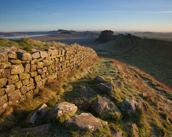 First light on Hadrian's Wall, Northumberland