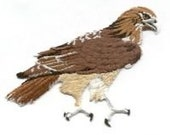 Hawk Red Tail Nature Bird  patch Sew on embroidered patches sew-on by capital city patch CO