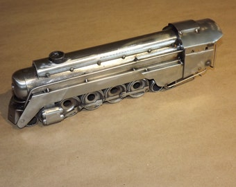 Big 4-8-4 Locomotive Hand crafted Metal Sculpture USA made