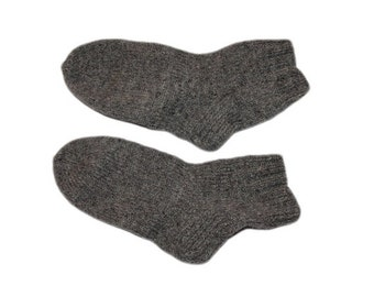 Gray woolen knitted socks