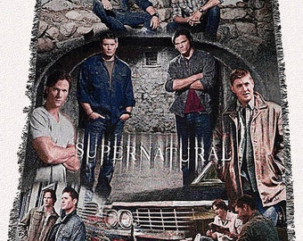 Supernatural Inspired Collage Throw Blanket
